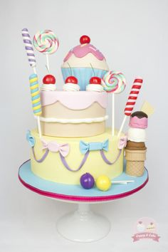 Sweet and Candy Cake