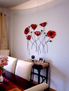Brilliant DIY Ceramic Art Ideas for Decorate the Room to be more Alive - Ceramic Wall Art, Ceramic Clay, Ceramic Pottery, Ceramic Flowers, Glass Flowers, Clay Crafts, Diy And Crafts, Diy Y Manualidades, Deco Floral