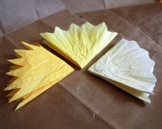 diy project: peaches' coffee filter flowers | Design