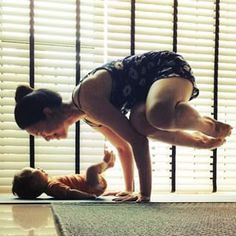 Understand the importance of eye contact. | 35 Mom And Baby Yoga Duos To Lower Your Heart Rate