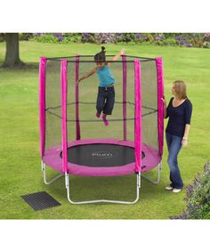 Plum 6ft Trampoline and Enclosure - Pink - Mothercare