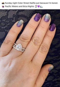 Nail Color Combos, Toe Nail Color, Color Street Nails, Pretty Nail Colors, Pretty Nails, Purple Nail Designs, Nail Art Designs, Diy Manicure, Manicure Ideas