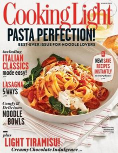 About Cooking Light  Cooking Light magazine has scores of delicious, nutritious recipes in every issue. Find out why Cooking Light magazine is the most popular food magazine in the country. Cooking Light publishes one double issue which counts as two of 12 in an annual subscription. @ http://www.amazon.com/gp/product/0848736583/ref=as_li_ss_tl?ie=UTF8=1789=390957=0848736583=as2=myamazonsales-20