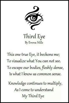 Third eye .. the Vision is AMAZING ..