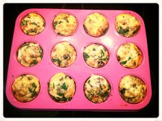 Mini Veggie Quiches * Lightly spray a muffin tray and put in your favourite veggies (I added zucchini, capsicum, eggplant, semi dried toms, feta, baby spinach) * Lightly beat 6-7eggs with salt, pepper & Italian herbs and a bit of milk of choice (I used Coco Quench - dairy free) * Fill each muffin cup to cover veggies * Sprinkle with cheese if you desire (leave off for dairy free) * Cook in the oven for 20 minutes - 200 degrees These freeze really well and are a great breakfast for on the…