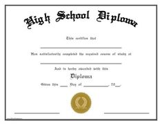 Looking for free Printable High School Diploma Template? ✅ These diploma templates are free to use & can be edited online. Adult High School Diploma, High Diploma, Homeschool Diploma, Homeschool High School, Graduation Certificate Template, Certificate Templates, School Certificate, Training Certificate, Cupcake Logo