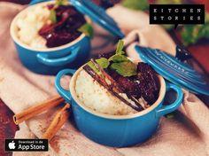 """Ik ben """"Rijstpudding met gebakken pruimen"""" aan het koken met @1KitchenStories - Gratis Download http://itunes.apple.com/app/id771068291"""