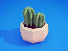 allisonhouse:  Loved the little cactus in my friend Ryan's ceramic doodles, so I potted one of my own. :)  So cute! you should submit stuff to simple CG!!