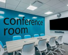 The Conference Room Office Wall Decor is ideal for quickly and easily transform any office workspace. Decor your conference room! Office Wall Decals, Office Walls, Wall Sticker, Office Art, Office Ideas, Masculine Office Decor, Creative Office Decor, Office Interior Design, Office Interiors