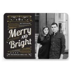 cute and unique holiday photo cards by origami prints #christmas #flat #card #photocards #designer #elegant #thick #sturdy #quality #stylish #vintage #art #deco #gold #black
