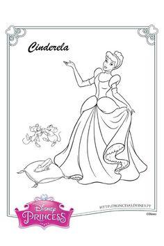 Colorir com a Cinderela