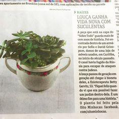 Natal com a gente na @folhadespaulo  #oitominhocas #suculentas #customização #porcelana #decoração #ecofriendly #plantinhas