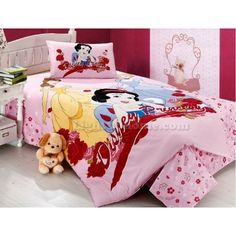 Pink Snow White Princess Bedding