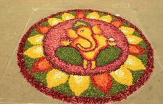 Rangoli using Flower Petals #FlowerRangoli