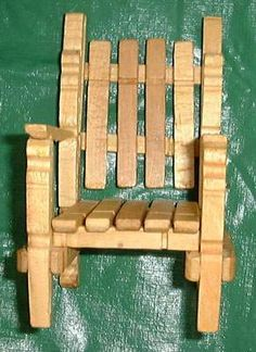 Clothes Pin Chair tutorial. . . .. Maybe big enough for Barbie?