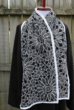 alabama chanin   Alabama Chanin inspired scarf   Flickr - Photo Sharing!