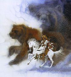 Two Bears for the Blackfoot - art by Bev Doolittle