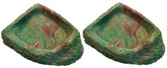 Namiba Terra 25712 Corner Bowls for Terrariums 7 x 10 x 2.5 cm Pack of 2 Green -- Click image to review more details. (This is an affiliate link)