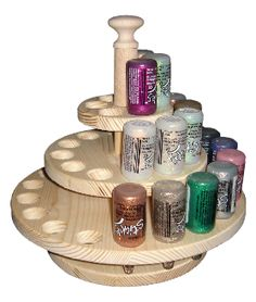 holds stickles, liquid pearls, glossy accents and turns round so i can easily reach another colour/bottle
