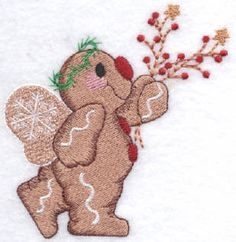 Threadsketches' set Sugar and Spice - Christmas embroidery designs, gingerbread man angel