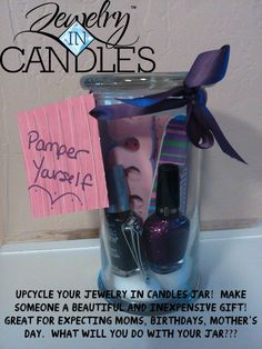 Finish your Jewelry In Candles intoxicating candle and give someone a pamper yourself gift! www.jewelryincandlesbyjen.com