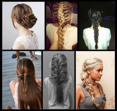 i love finding unique braids to try, these look so gorgeous! Celebrity Hairstyles, Braided Hairstyles, Wedding Hairstyles, Cool Hairstyles, Gorgeous Hairstyles, Hairstyle Ideas, Unique Braids, Beautiful Braids, Different Braids