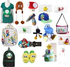 """TOTALLY MARIO!!! (i know there more than one of stuff but i like it)"" by misstaylorpinky on Polyvore"