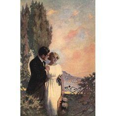 Posterazzi The Guests of Hercules 1912 Sunset Canvas Art - M Leone Bracker (24 x 36)