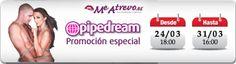 Campaña Especial de Pipedream del 24 de marzo hasta el 31 de marzo de 2014: Juguetes Eróticos, Lencería Sexy Erótica, Juegos Eróticos, Divertidos Eróticos, Varios Eróticos  http://www.me-atrevo.es/tienda-erotica-sex-shop-online/102_pipedream