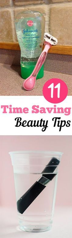11 Time Saving Beauty Tips. Love anything that makes things quick and easy. #beauty #tips #fashionsecretstipsstyle