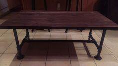 Custom rough sawn coffee table
