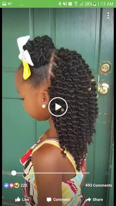 Crotchet for your lil angel (little black girls braids children) Lil Girl Hairstyles, Black Kids Hairstyles, Natural Hairstyles For Kids, Kids Braided Hairstyles, Kids Crochet Hairstyles, Crochet Hair For Kids, Nice Hairstyles, Little Girl Braids, Black Girl Braids