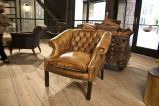 Noble Tufted Wing Chair at 1stdibs