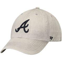 d99f3e090dd2e Men s Atlanta Braves  47 Gray Cement Clean Up Adjustable Hat