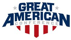 Great American Conference Primary Logo on Chris Creamer's Sports Logos Page - SportsLogos. A virtual museum of sports logos, uniforms and historical items. American Conference, Oakland City, American Logo, Hockey Logos, Sports Logos, Conference Logo, Athlete Quotes, Wonder Boys, Food Truck Design