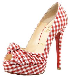 Christian Louboutin Greissimo Gingham Knot Pumps