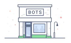 Bot Shop - Illustration designed by Joe Roberto. Learn To Code, Make It Simple, Bar Chart, Branding Design, How To Apply, Coding, Learning, Create, Building