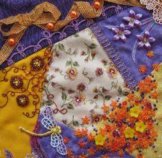 I ❤ embroidery & crazy quilting . . . Block in progress ... : crazy quilt dragon - Adamdwight.com