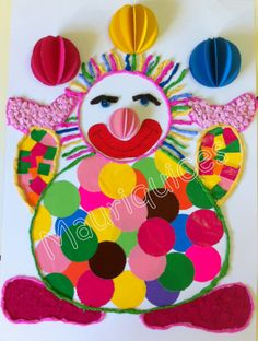 Risultati immagini per bricolages cirque Clown Crafts, Circus Crafts, Carnival Crafts, Winter Crafts For Kids, Easy Crafts For Kids, Crafts To Do, Diy For Kids, Arts And Crafts, Clowns