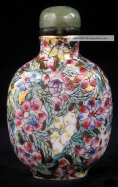 Porcelain 'Floral' Snuff Bottle