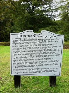 The Battle of Carnifex Ferry, 1861