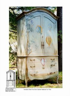 PaintedFurnitureBarn.com - Venetian Armoire Chest, $7,750.00 (http://www.paintedfurniturebarn.com/venetian-armoire-chest/)