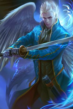 Devil may cry fanart - Vergil, Derrick Song on ArtStation at https://www.artstation.com/artwork/devil-may-cry-fanart-vergil