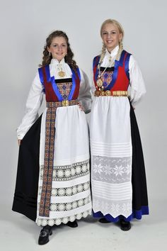 norske bunader | Norske Bunader - Fanabunad | Dame Norwegian Clothing, Costumes Around The World, Frozen Costume, Folk Costume, Ethnic Fashion, Traditional Dresses, Norway, Cover Up, How To Wear