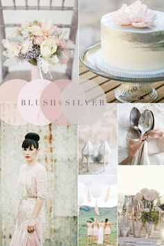 Vintage Wedding Colour Combinations - Blush Pink & Silver