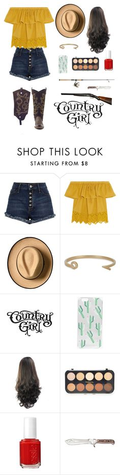 """""""Country Girl"""" by gabi-20 on Polyvore featuring Madewell, MIANSAI, Boohoo, Forever 21, Essie and country"""