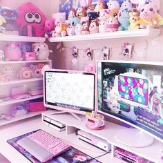 game room decoration ceiling hanging – My World My New Room, My Room, Girl Room, Cute Room Decor, Ultimate Gaming Room, Salle Pastelle, Home Music, Kawaii Bedroom