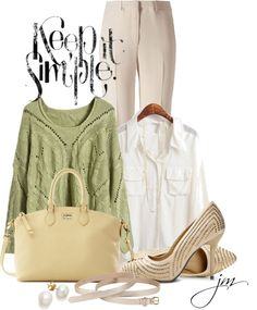 """Keep it Simple"" by jenniemitchell ❤ liked on Polyvore"