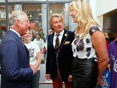 Prince Charles is dwarfed by Penny Lancaster as she joins him at ...