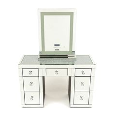 Crystal Top Vanity with Makeup Mirror XL Tall with Tri -temperature Vanity, Crystal, Mirror, Makeup, Instagram Posts, Top, Decor, Dressing Tables, Make Up